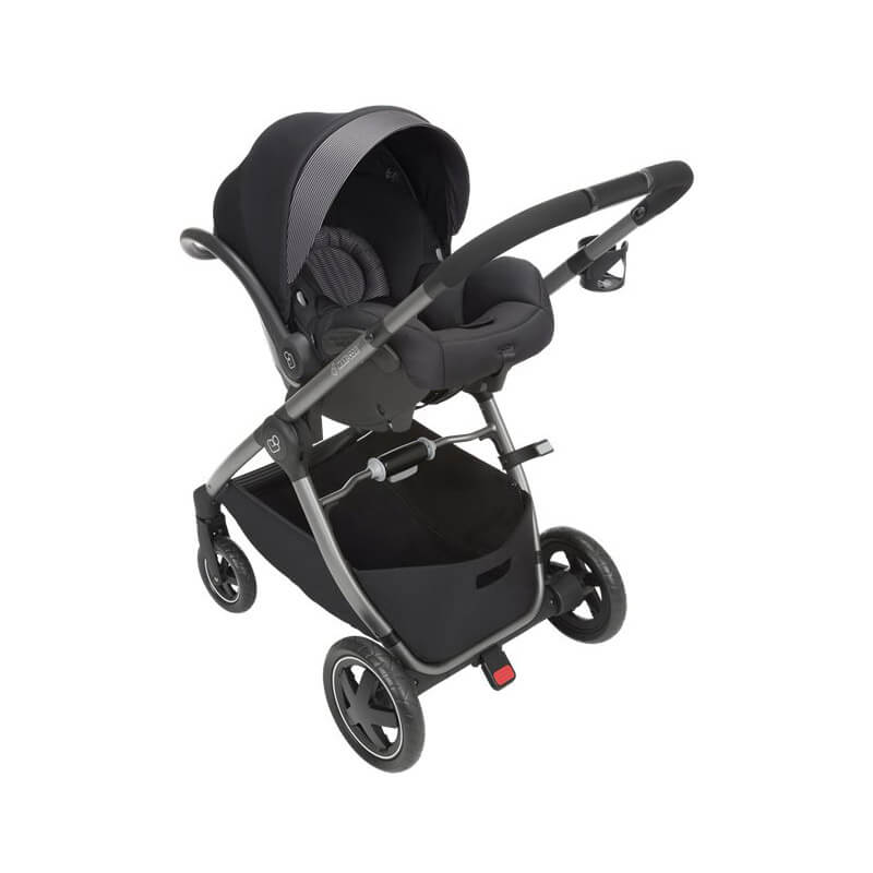 Travel system with baby capsule